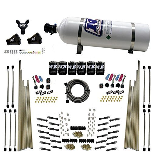 Nitrous Express 8 Cylinder (Nitrous Express 93206-15 8 Cylinder Dry Direct Port Nitrous System Three Stage 200-600 HP w/15 lb. Bottle 8 Cylinder Dry Direct Port Nitrous System)