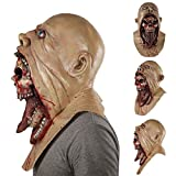Binglinghua® Creep Vampire Mask Full Head Scary Zombie Latex Face Shield For Halloween Party Cosplay Costume Accessory