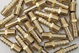 LTWFITTING 3/8 Hose Barb x 1/4 Male NPT Brass Coupler/Connector Fitting Fuel Gas(Pack of 400)