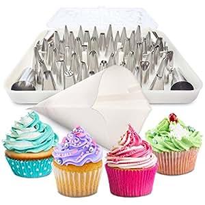 Amazon.com: BakeLux Cake Decorating Tips Set - 56 Piece