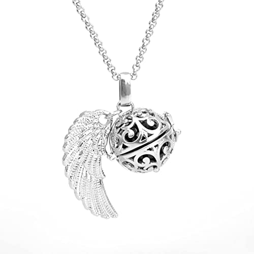 Amazon feather wing cool mexican bola harmony musical ball feather wing cool mexican bola harmony musical ball angel caller pregnancy chime locket pendant necklace gifts mozeypictures Choice Image