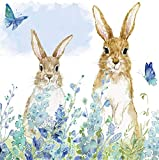 Cypress Home Bunnies in the Meadow Paper Cocktail Napkins, 20 count