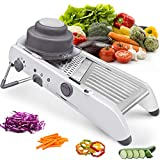 KARIDGE Mandoline Slicer Stainless Steel Vegetable Julienner Built-in Adjustable Safe Blades Grater, Professional Multifunctional Premium Onion Tomato Slicer