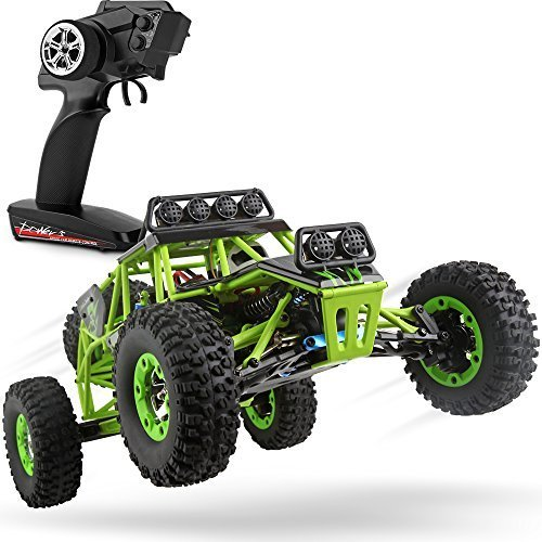 WLtoys RC Cars 1/12 Scale 2.4G 4WD High Speed Electric All Terrain Off-Road Rock Crawler Climbing Buggy RTR for Kids and ()
