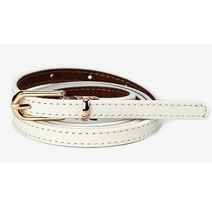 Cinturón de mujer para mujer Cinturones de cintura flaca de cuero genuino  fino de cuero genuino 3e159c700b64
