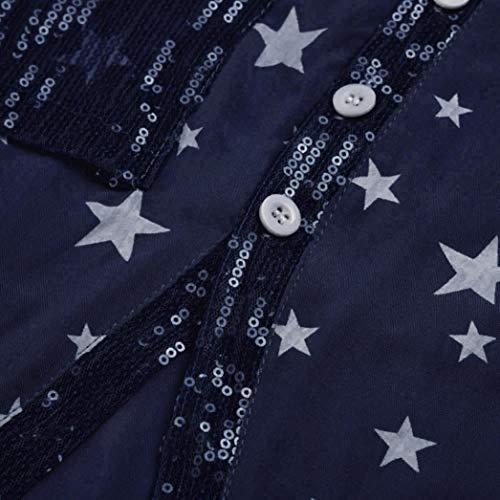 Tops SANFAHSION 2 Marine V Col Travaille Automne Haut Florale Femme Basique Tee Mode Lin Chemise Shirt Manche Chic Vetement Hiver Casual Longue Habite zpzBFrx