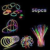 "Mostoy Glow Stick, 50 PCS 8"" Light up Toys Glowsticks with Connectors Bracelets Necklace Flower Balls Luminous Glasses Bracelets Mixed Colors Party Supplies Glow in The Dark Light Sticks PartySticks"