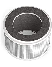 AROVEC AV-P300 Smart Compact Air Purifier Filter, 4-in-1 Nylon Pre-Filter, True HEPA Filter, High-Efficiency Activated Carbon Filter, PP Net Filter, AV-P300RF, (1Pack)