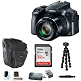Canon PowerShot SX60 HS 16.1MP Digital Camera with 65x Optical Zoom and Built-in WiFi/NFC + 32GB Accessory Bundle