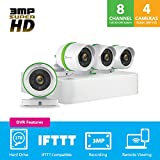 EZVIZ 3MP Surveillance Kit Premium Complete Surveillance System, White, 8 Channel + 4 Camera (BD-1834B1)