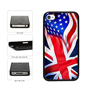 Great Britain And USA Mixed Flag Plastic Phone Case Back Cover Apple iPhone 5c includes diy case Cloth and Warranty Label