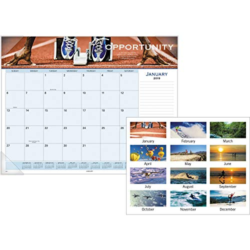 - AT-A-GLANCE Visual Organizer Recycled Motivational Panoramic Desk Pad, 22 x 17 Inches, 2019 (89801)