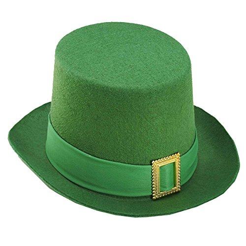 St Patricks Green (Forum Novelties St. Patrick's Day Costume Top Hat, Green Felt, One Size)