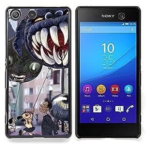 For Sony Xperia M5 E5603 E5606 E5653 Case , Mandíbulas de Halloween dientes de los niños - Diseño Patrón Teléfono Caso Cubierta Case Bumper Duro Protección Case Cover Funda