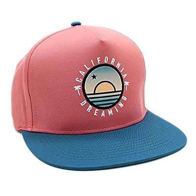 LAFSQ Embroidered California Dreaming Flat Bill Snapback Hats Baseball Hats