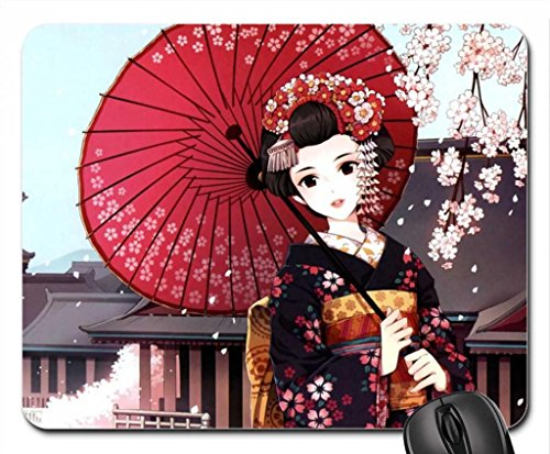 (geisha Mouse Pad, Mousepad (10.2 x 8.3 x 0.12 inches))