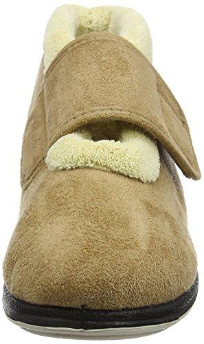 Padders Silent, Zapatos De Estar Por Casa Para Mujer Marrón (Camel)