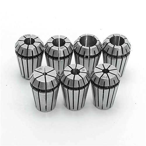 7pcs ER20 Chuck Collet 1/8 to 1/2 Inch Spring Collet Set For CNC Milling Lathe Tool by BephaMart