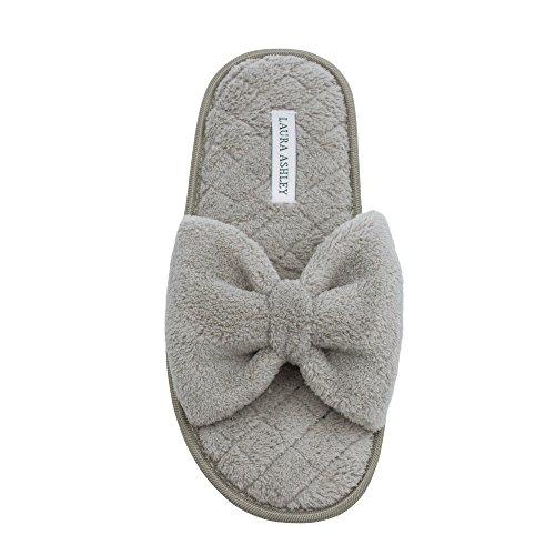 Foam Memory Bow Laura Open Toe Slippers Insole Spa Ladies Rye Ashley OnOf8wqRB