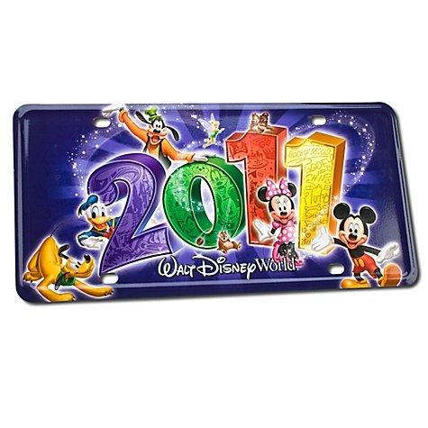 - 2011 Walt Disney World Resort License Plate Featuring Mickey Mouse, Donald Duck, Pluto & Goofy