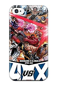 Snap-on Avengers Vs X Men Case Cover Skin Compatible With Iphone 4/4s