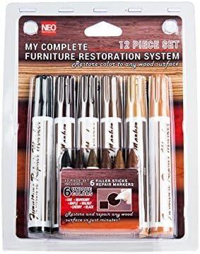 Arce 1 Piezas Roble Arce Kit de Reparaci/ón Madera Pluma Sistema Cereza Marcadores Retoque Rotulador Reparaci/ón Muebles Marcadores Caoba Negro Nogal