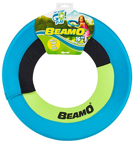 Toysmith Get Outside GO! Mini Beamo Flying Hoop (16-Inch), Colors may vary - Sport All Frisbee