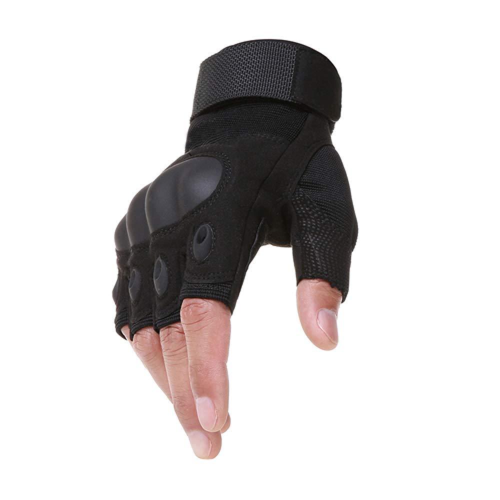 Bruce Dillon Outdoor Motorrad Hard Knuckle Handschuhe Motocross Motorrad Jagd Reiten Half Finger Protection Schwarz XL