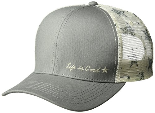 Life Good Winter Hats - Life is Good Hard Mesh Back Chill Cap Starry Icon Cold Weather Hats, Slate Gray, One Size