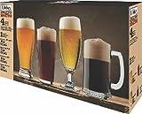 Jogo com 4 Peças para Cerveja com 2 Copos com 1 Taça com 1 Caneca Libbey Transparente