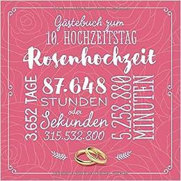 Gästebuch Zum 10 Hochzeitstag Rosenhochzeit Deko