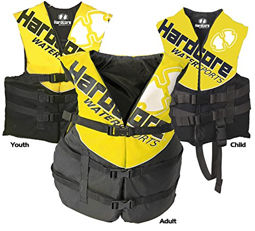 Hardcore Water Sports Child Life Jacket Vest - US Coast Guard approved Type III (ONE VEST INCLUDED)