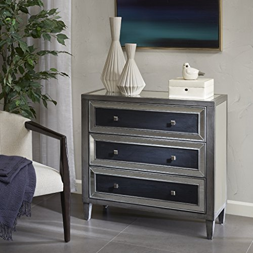 Madison Park Nessa 3 Drawer Chest Silver/Black See - Drawer 3 Madison