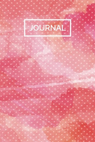 Read Online Journal (6x9 Notebook): Lined Writing Notebook, 120 Pages – Pink and Orange Watercolor Polka Dots PDF