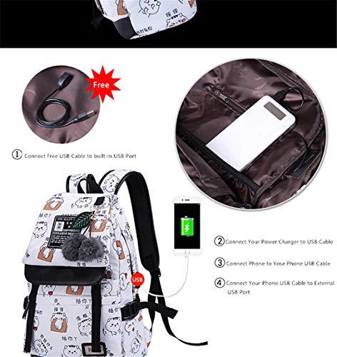 Backpack Student 2 Set USB Theft Bag Boy Girl Anti T7U5q7Yw
