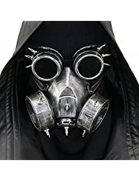 Steampunk Gas Goggles Skeleton Warrior Mask Costume Halloween Party Cosplay Props