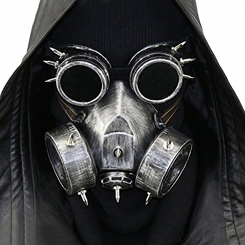 Steampunk Gas Goggles Skeleton Warrior Death Mask Masquerade Chrismas Cosplay Props]()
