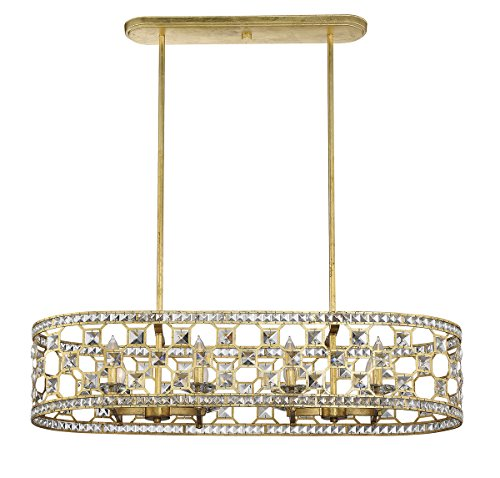 (Savoy House 1-841-8-33 Clarion 8-Light Oval Chandelier in Gold Bullion)