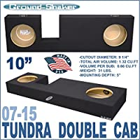 07-15 Toyota Tundra Double Cab Truck 10 Sub Box Subwoofer Enclosure