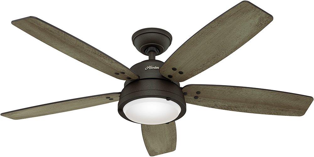 Hunter Channelside 52 in. LED Outdoor Noble Bronze Ceiling Fan-59040 by Hunter
