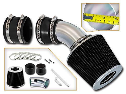 Rtunes Racing Short Ram Air Intake Kit + Filter Combo BLACK Compatible For 98-04 Seville SLS/STS 4.6L - 2000 Sls Cadillac Seville