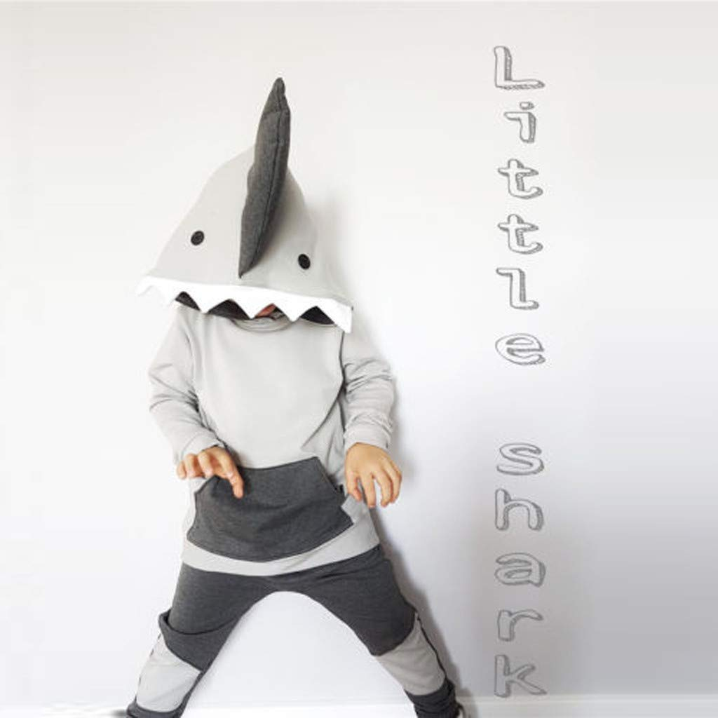 Amazon.com: Birdfly 6M-5T Toddler Baby Boy Girl Shark Hoodie + Trouser Suit for Photography Party: Clothing