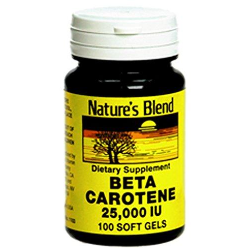 Nature's Blend Beta Carotene 25,000 IU 100 Softgels