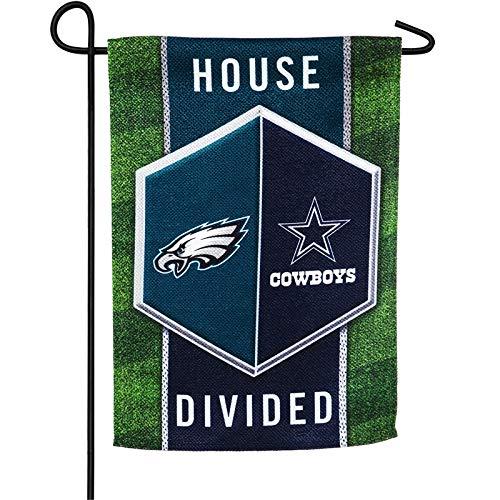 (Team Sports America Dallas Cowboys vs Philadelphia Eagles House Divided Suede Garden Flag)