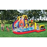 Banzai Inflatable Aqua Sports Splash Pool and Slide Backyard Water Park offers