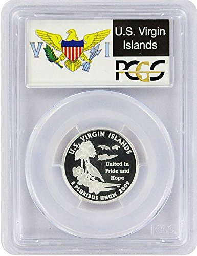 2009 Virgin Islands State S Silver Proof Quarter PR-69 PCGS