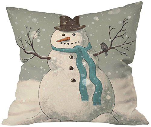 Deny Designs Terry Fan Snowman Throw Pillow, 20 x 20 -  51786-thrpi1