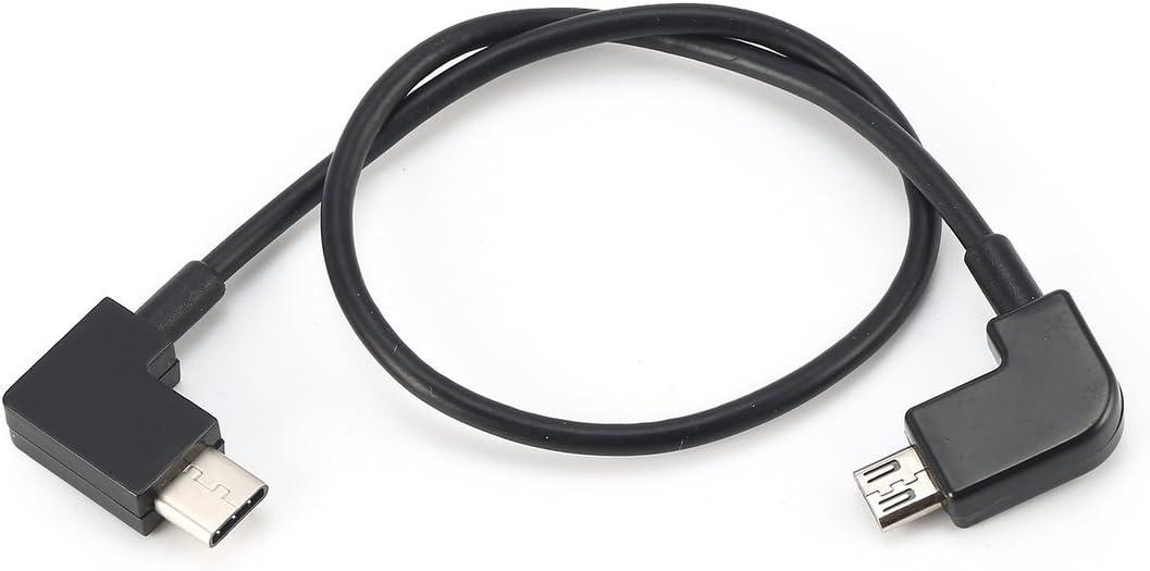 Comomingo Línea de Cable de Datos Micro USB a Tipo C para el Controlador dji Spark Mavic Smartphone (Negro): Amazon.es: Juguetes y juegos