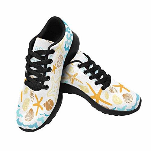 InterestPrint Womens Trail Running Shoes Jogging Lightweight Sports Walking Athletic Sneakers Cute Shells and Starfishes Multi 1 u9qcbONb