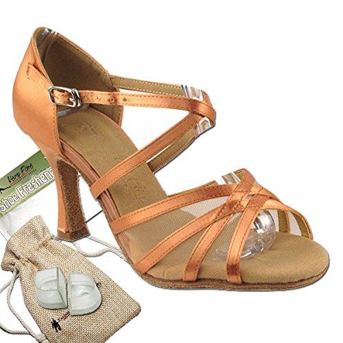 Women's Ballroom Dance Shoes Tango Wedding Salsa Dance Shoes Tan Sera1605EB Comfortable - Very Fine 3